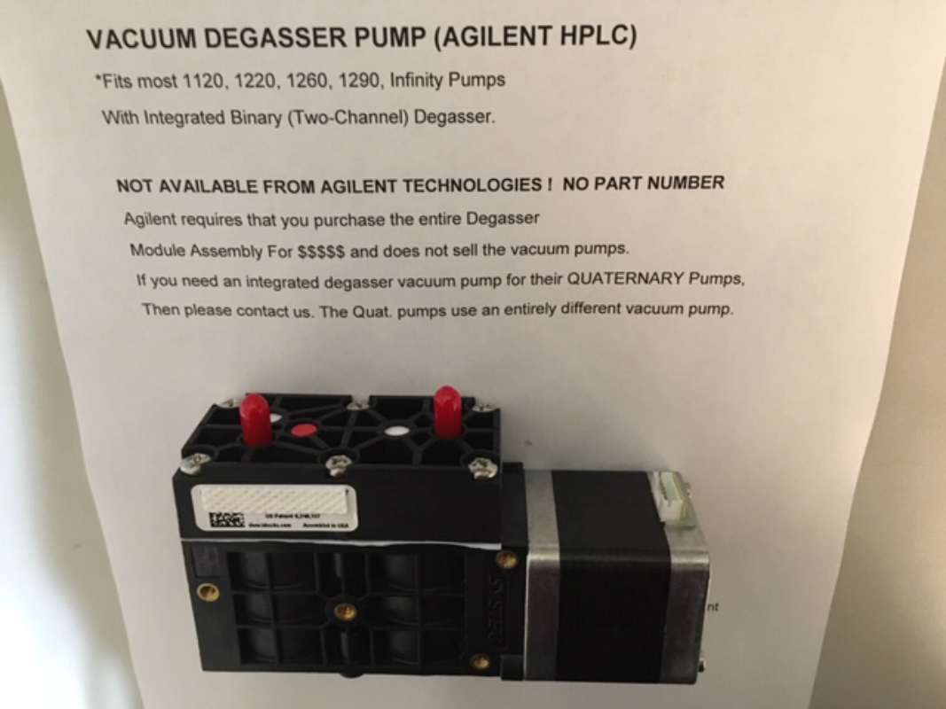 Vacuum Degasser Pump for Agilent Binary Pumps